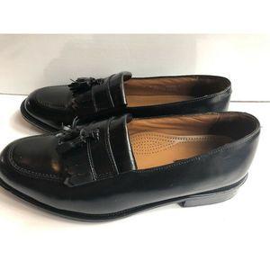 Bostonian Black Size 10W Kiltie Tassel Leather